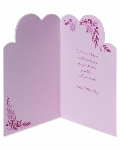 American Greetings #58 Mother's Day Card for Wife (Hearts) Perspective: left