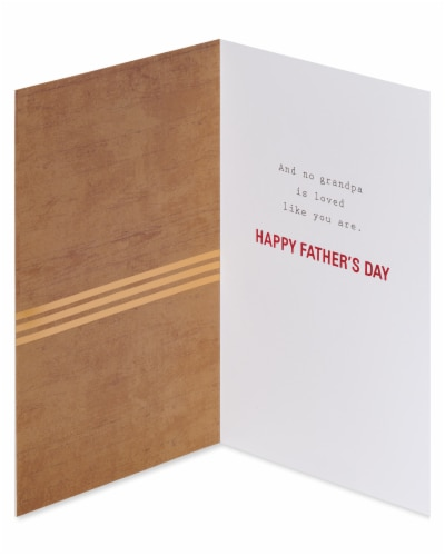 American Greetings #62 Father's Day Card for Grandpa (Loved) Perspective: left