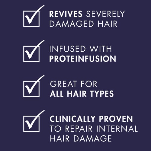 Nexxus Silicone-Free Keraphix with ProteinFusion Conditioner for Damaged Hair Perspective: left