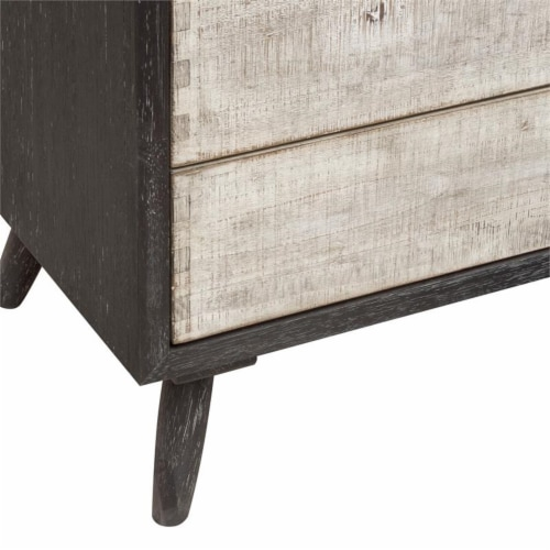 HomeFare Mid Century Wood Buffet & Hutch in Black Perspective: left