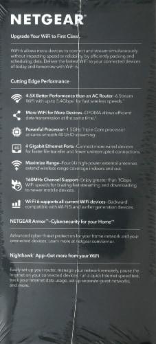 NETGEAR Nighthawk AX6 RAX50 IEEE 802.11ax Ethernet Wireless Router Perspective: left