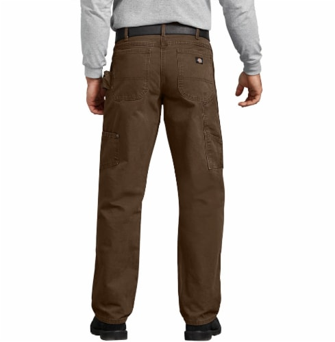 Dickies Men's Big & Tall Relaxed Fit Sanded Duck Carpenter Jeans - Rinsed Timber Perspective: left