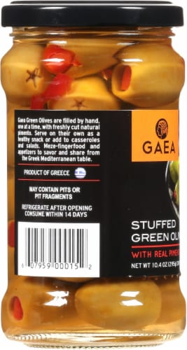 Gaea Pimento Stuffed Green Olives Perspective: left