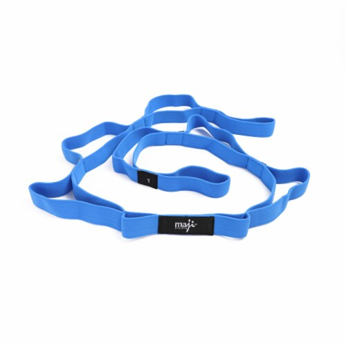 Elastic Yoga Straps (With 10 Loops) Perspective: left