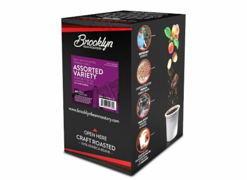 Brooklyn Beans Assorted Variety Pack K-Cups Coffee for Keurig Brewers, 40 Count Perspective: left