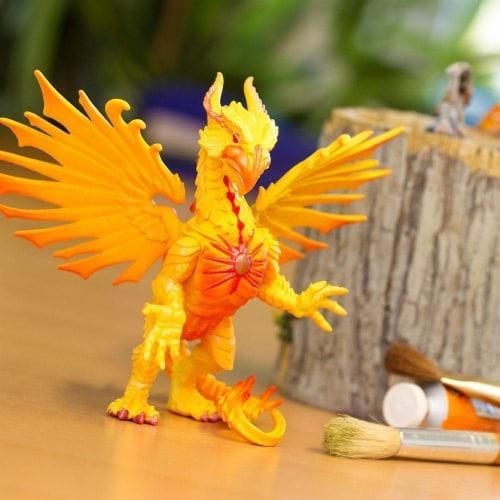 Safari 10134 Sun Dragon Figurine, Multi Color Perspective: left