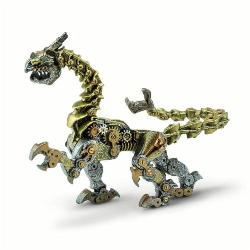 Steampunk Dragon Toy Perspective: left