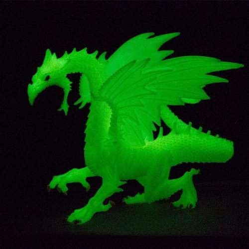 Glow-in-the-Dark Snow Dragon Toy Perspective: left