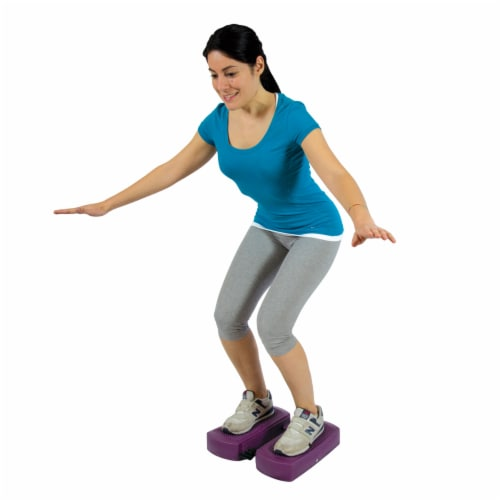 Gymnic Movin Step Exercise Cushion - Purple Perspective: left