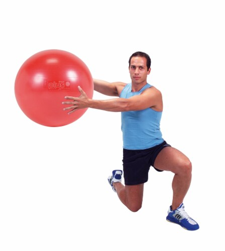 Gymnic Plus Fitness Ball - Red Perspective: left