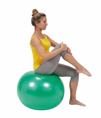 Gymnic Plus 22 Inch Fitness Ball - Green Perspective: left