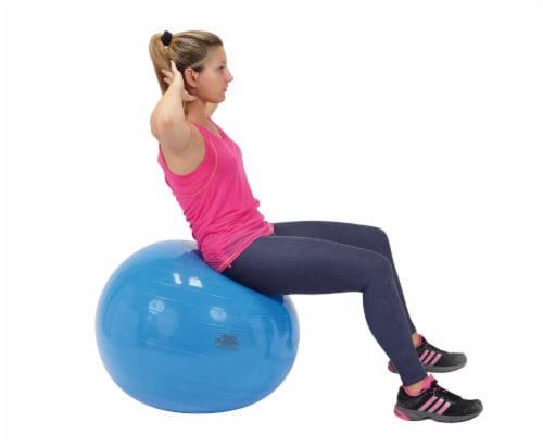 Gymnic Classic 26 Inch Fitness Ball - Blue Perspective: left