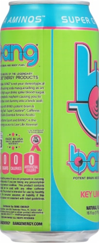 Bang Key Lime Pie Energy Drink Perspective: left