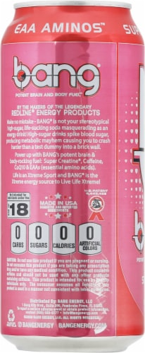 Bang Delish Strawberry Kiss Energy Drink Perspective: left