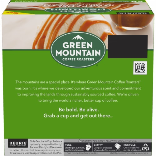 Green Mountain Coffee Caramel Vanilla Cream K-Cup Pods Perspective: left
