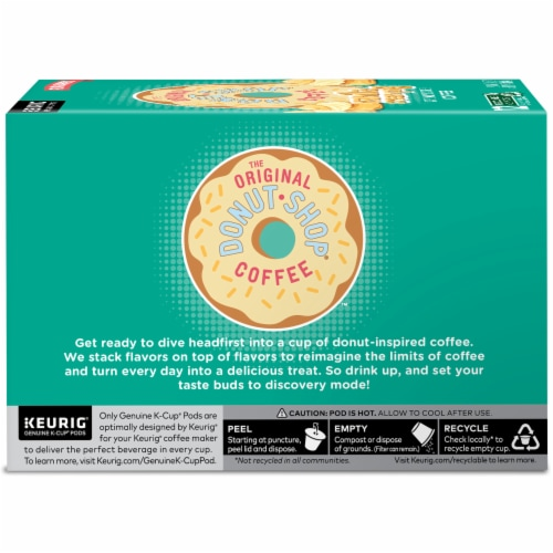 The Original Donut Shop Vanilla Cream Puff Coffee K-Cup Pods Perspective: left