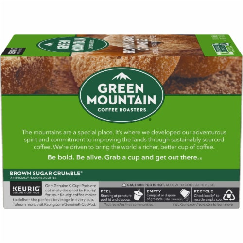 Green Mountain Coffee Brown Sugar Crumble Donut Flavored Coffee K-Cup Pods Perspective: left