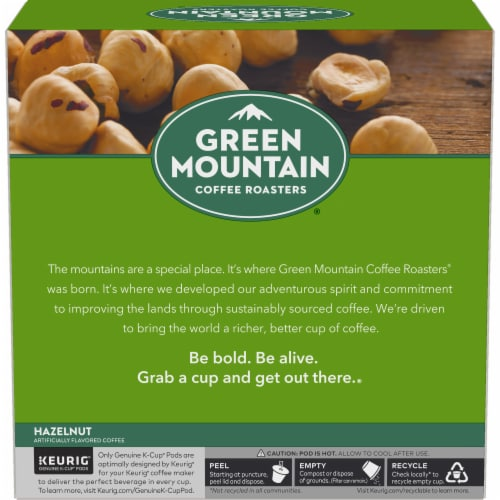 Green Mountain Coffee Roasters Hazelnut Coffee K-Cup Pods Perspective: left