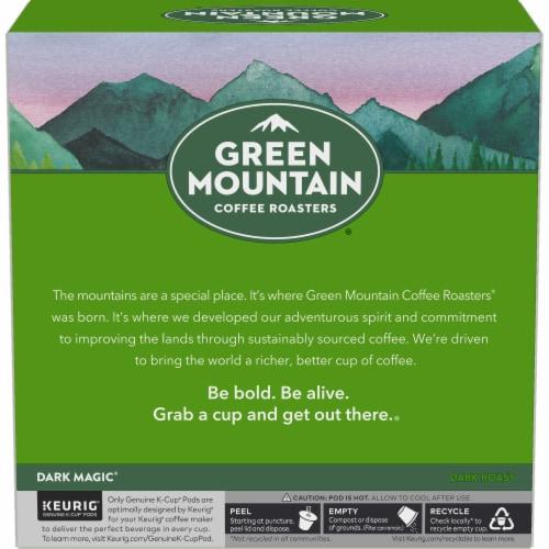 Green Mountain Coffee Dark Magic Dark Roast K-Cup Pods Perspective: left