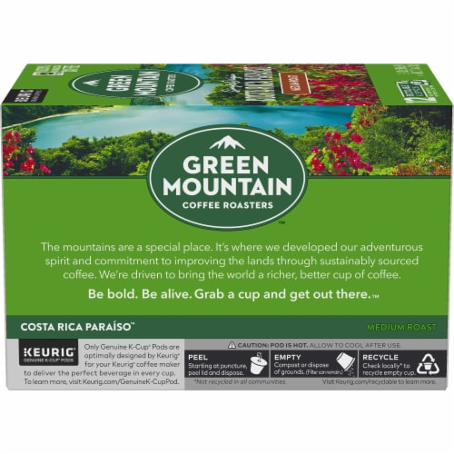 Green Mountain Costa Rica Coffee K-Cup Pods Perspective: left