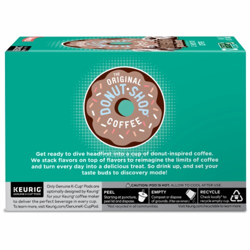 The Original Donut Shop Chocolate Glazed Donut Medium Roast Coffee K- Cup Pods Perspective: left