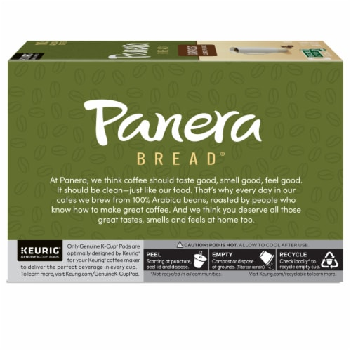 Panera Bread at Home Dark Roast Coffee K-Cup Pods Perspective: left