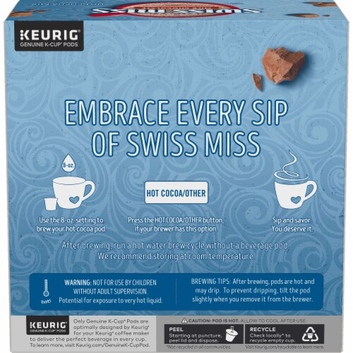 Swiss Miss® Milk Chocolate Hot Cocoa K-Cup® Pods Value Pack Perspective: left