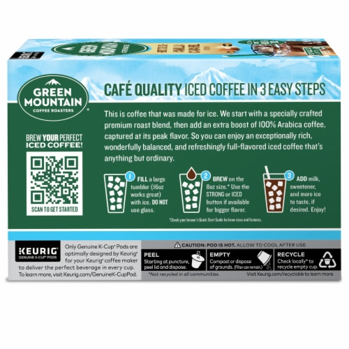 Green Mountain Coffee Roasters Brew Over Ice K-Cup Pods Perspective: left