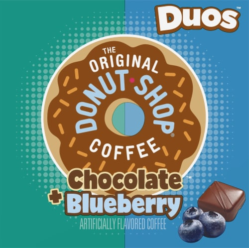 The Original Donut Shop® Duos™ Chocolate + Blueberry Coffee K-Cup Pods Perspective: left