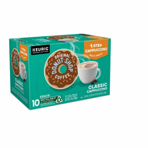 The Original Donut Shop One Step Classic Cappucino K-Cup Pods Perspective: left