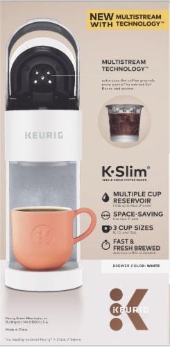 Keurig® K-Slim® Single Serve Coffee Maker - White Perspective: left