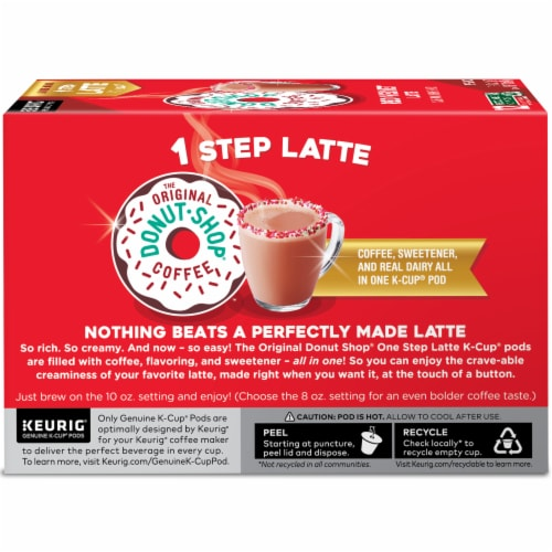 The Original Donut Shop® Red Velvet Latte K-Cup® Coffee Pods Perspective: left