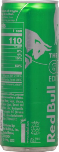 Red Bull Summer Edition Dragon Fruit Energy Drink Perspective: left