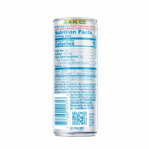 Red Bull Sugar Free Energy Drink Perspective: left