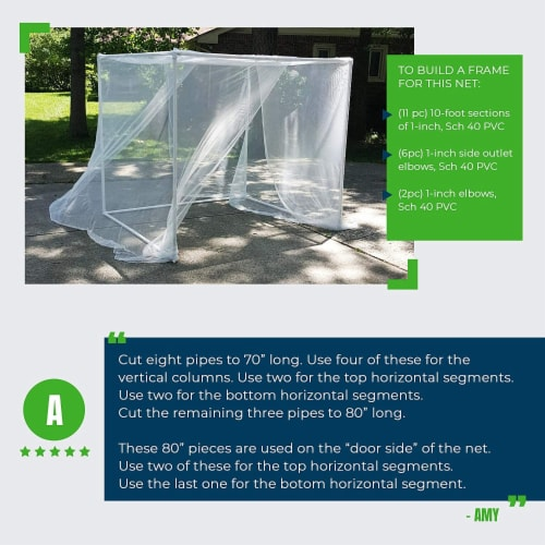 MEKKAPRO Ultra Large Mosquito Net with Carry Bag, Large 2 Openings Netting Curtains Perspective: left