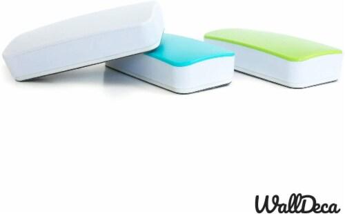 WallDeca Magnetic Premium Dry Eraser, Felt Bottom Surface, Made for White Boards (Green) Perspective: left
