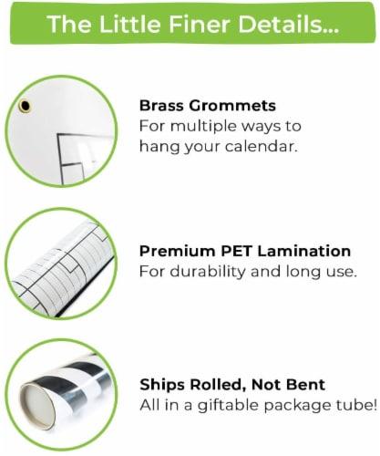 WallDeca Monthly Dry Erase Wall Calendar Planner Whiteboard: Wipe Off Erasable Calendar Perspective: left