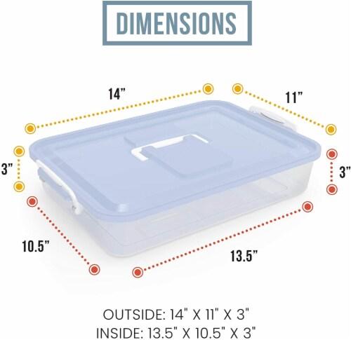 Chef Pomodoro Dough Proofing Box, 14 x 11-Inch, Fit 4-6 Dough Balls Perspective: left