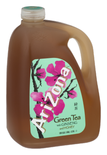AriZona Ginseng and Honey Green Tea Perspective: left