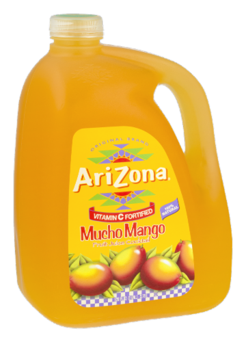 AriZona Mucho Mango Fruit Juice Cocktail Perspective: left