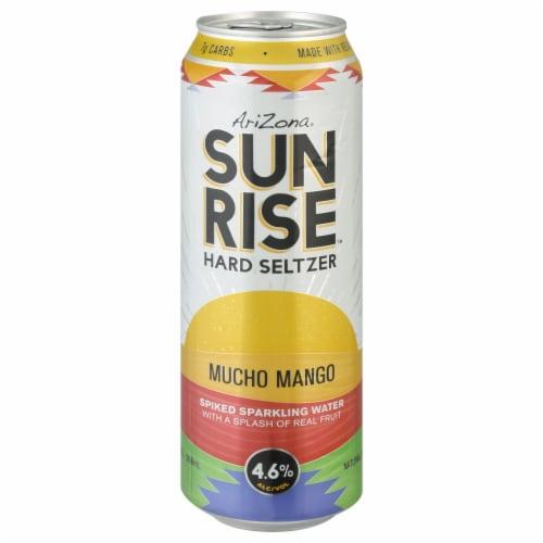 AriZona Sunrise Mucho Mango Hard Seltzer Perspective: left