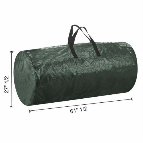 Christmas Tree Zipper Storage Bag Holds Fake Unassembled Trees up to 9 Ft High Perspective: left