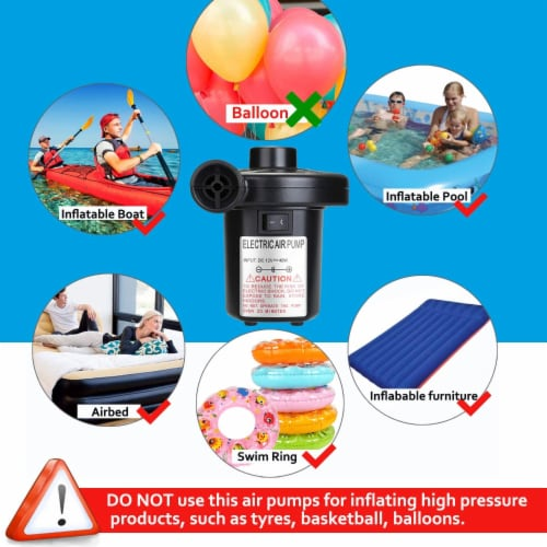AGPtek 4  Electric Air Pump for Inflatables Deflator Air Mattresses Swimming Ring Beds Pool Perspective: left