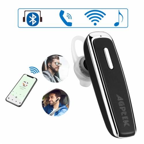 Trucker Headsets Mini Single Wireless Bluetooth Earbuds Headphone In Ear Hook Perspective: left