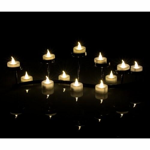 AGPtek 24 PCS LED Tealight Timer Warm White Candles Flameless Flickering Perspective: left