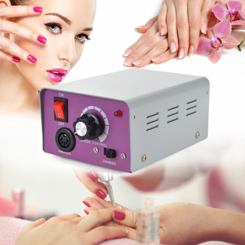 AGPtek Electric Nail Drill Kit Portable for Acrylic Nail Gel Polish Perspective: left