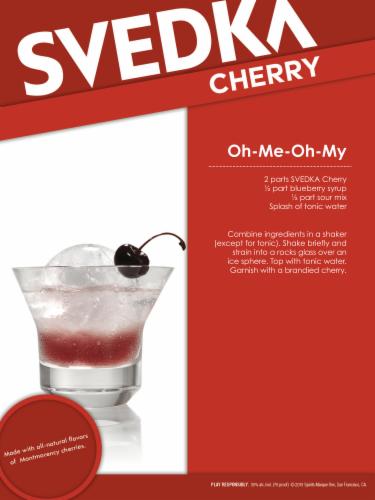 Svedka Cherry Vodka Perspective: left