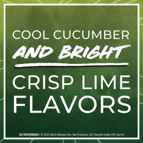 Svedka Cucumber Lime Flavored Vodka Perspective: left