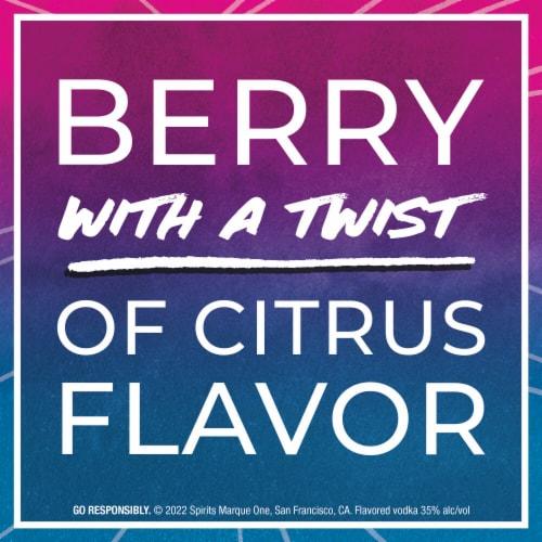 Svedka Blue Raspberry Flavored Vodka Perspective: left