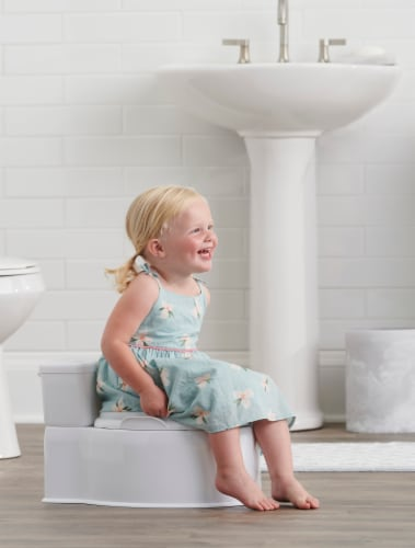 Regalo My Little Toddler Potty with Foam Seat - White Perspective: left
